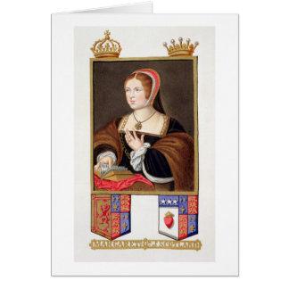 Retrato de 1489-1541) reinas de Margaret Tudor (de Tarjeta De Felicitación