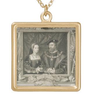 Retrato de 1496-1533) reinas de Maria (de Francia, Collar Dorado