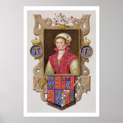 Retrato de 1507-36) 2das reinas de Ana Bolena (de  Póster