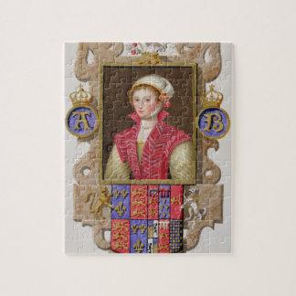 Retrato de 1507-36) 2das reinas de Ana Bolena (de  Puzzle