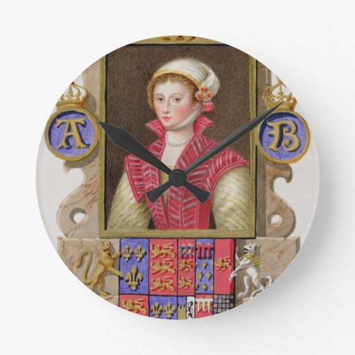 Retrato de 1507-36) 2das reinas de Ana Bolena (de  Relojes