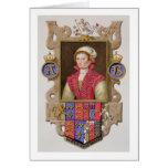Retrato de 1507-36) 2das reinas de Ana Bolena (de  Tarjeta De Felicitación