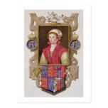 Retrato de 1507-36) 2das reinas de Ana Bolena (de Postal