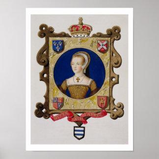 Retrato de 1512-48) 6tas reinas de Catherine Parr  Póster