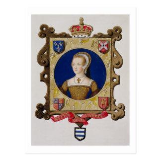 Retrato de 1512-48) 6tas reinas de Catherine Parr Tarjetas Postales