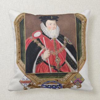 Retrato de 1520-98) 1ros barones Burg de Guillermo Cojin