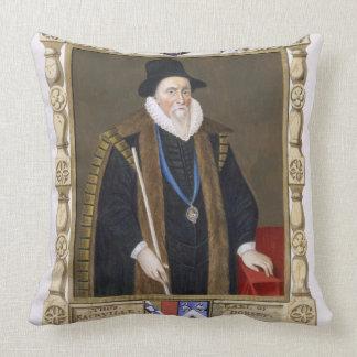 Retrato de 1536-1608) 1ros barones de Thomas Sackv Cojín