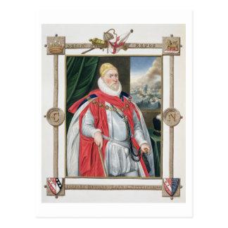 Retrato de 1536-1624) 2dos barones o de Charles Ho Postal