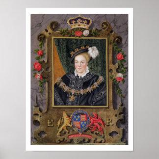 Retrato de 1537-53) reyes de Edward VI (de Inglate Impresiones