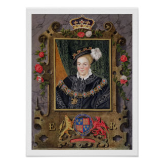 Retrato de 1537-53) reyes de Edward VI (de Inglate Póster