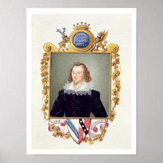 Retrato de 1559-94) 5tos condes de Fernando Stanle Poster