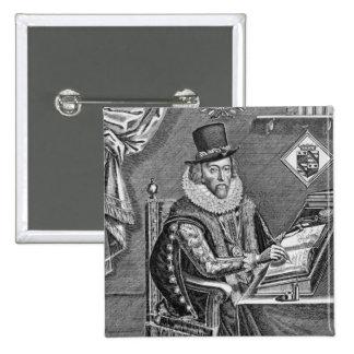 Retrato de 1561-1626) vizcondes de Francis Bacon ( Pin Cuadrada 5 Cm