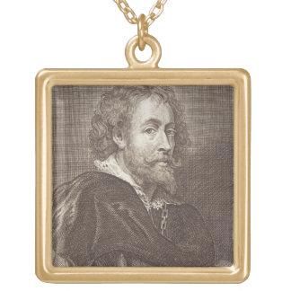Retrato de 1577-1640) placas 30 de Peter Paul Rube Colgante Cuadrado