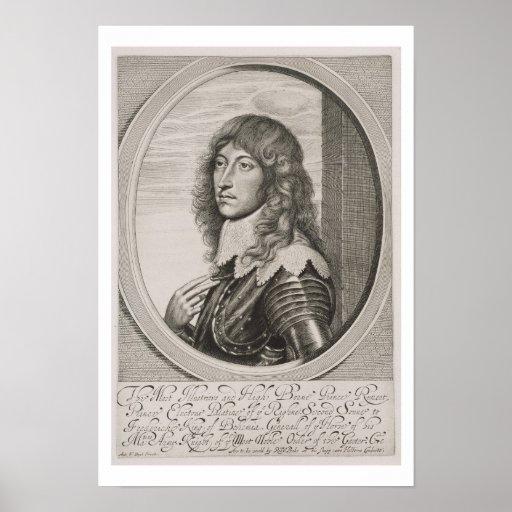 Retrato de 1619-82) cuentas Palatine de príncipe R Impresiones