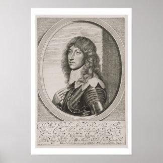 Retrato de 1619-82) cuentas Palatine de príncipe R Póster