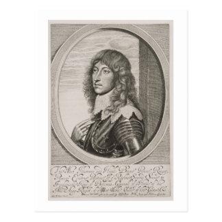 Retrato de 1619-82) cuentas Palatine de príncipe R Postal