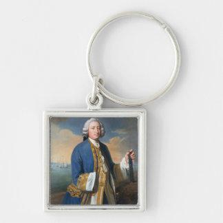 Retrato de 1709-87) tenencias de capitán David Bro Llaveros Personalizados