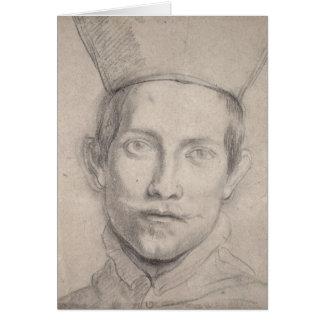 Retrato de 2 cardinales tarjeta de felicitación