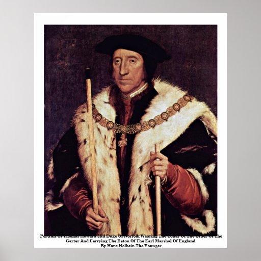Retrato de 3ro duque Of Norfolk de Thomas Howard Póster