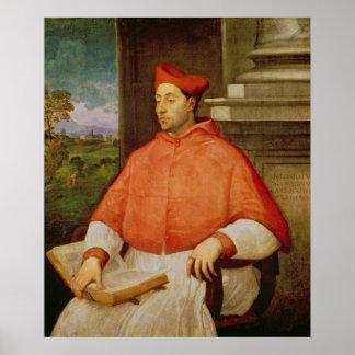 Retrato de A. cardinal Pallavicini, 1512 Póster