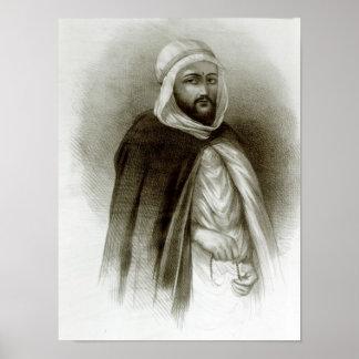 Retrato de Abdelkader Poster