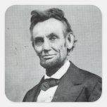 Retrato de Abe Lincoln 1 Pegatina Cuadrada