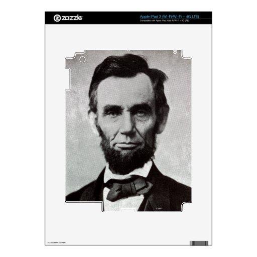 Retrato de Abe Lincoln 2 Pegatinas Skins Para iPad 3
