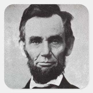 Retrato de Abe Lincoln 2 Pegatina Cuadrada