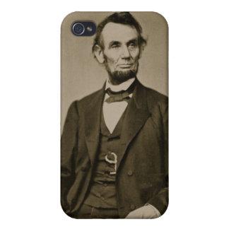 Retrato de Abraham Lincoln (1809-65) (foto de b/w) iPhone 4/4S Fundas