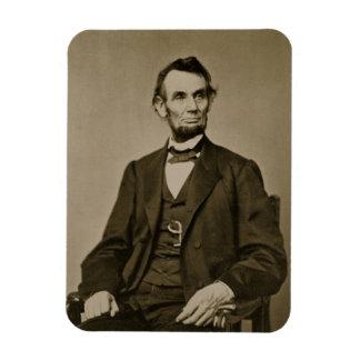 Retrato de Abraham Lincoln (1809-65) (foto de b/w) Imán