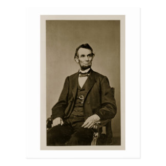 Retrato de Abraham Lincoln (1809-65) (foto de b/w) Postal