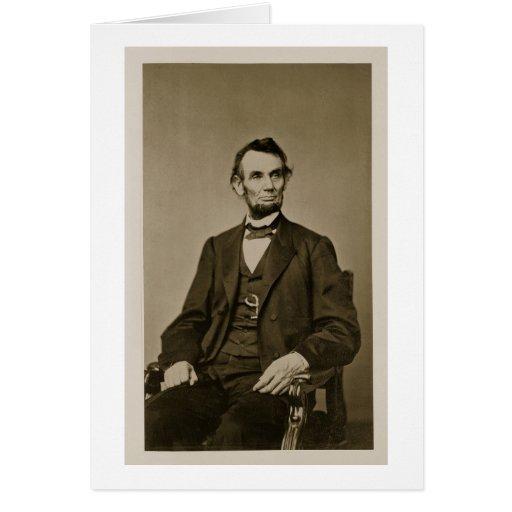 Retrato de Abraham Lincoln (1809-65) (foto de b/w) Tarjeta De Felicitación