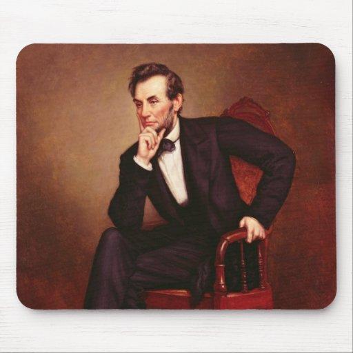 Retrato de Abraham Lincoln Alfombrillas De Ratón