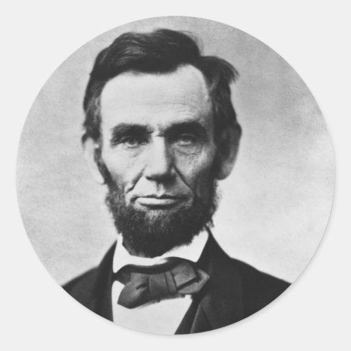 Retrato de Abraham Lincoln de Alexander Gardner Pegatina Redonda