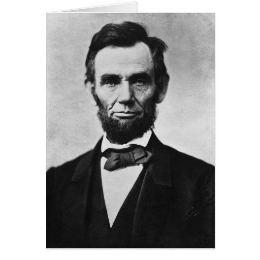 Retrato de Abraham Lincoln de Alexander Gardner Tarjeta De Felicitación