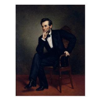 Retrato de Abraham Lincoln de George Healy Postal