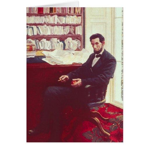 Retrato de Abraham Lincoln Felicitación