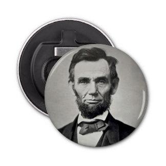 Retrato de Abraham Lincoln Gettysburg Abrebotellas Redondo