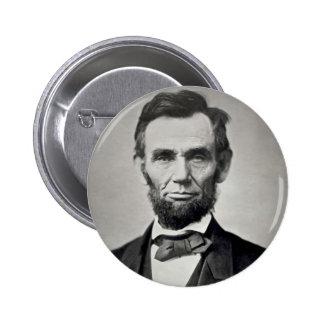 Retrato de Abraham Lincoln Gettysburg Pin Redondo De 2 Pulgadas