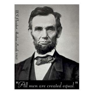 Retrato de Abraham Lincoln Gettysburg Tarjetas Postales