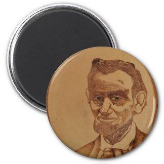 Retrato de Abraham Lincoln Imán Redondo 5 Cm