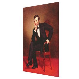 Retrato de Abraham Lincoln Impresiones De Lienzo