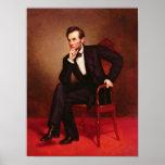 Retrato de Abraham Lincoln Póster