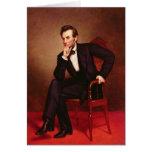 Retrato de Abraham Lincoln Tarjeta De Felicitación