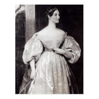 Retrato de Ada Byron de Augusta Postal