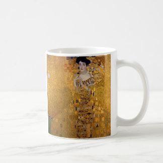 Retrato de Adela Bloch-Bauer de Gustavo Klimt 1907 Taza Básica Blanca