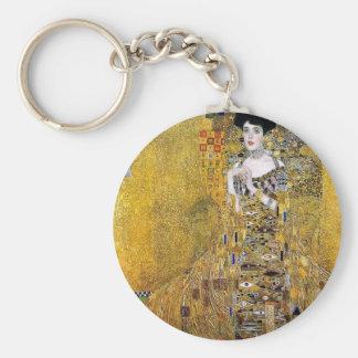 Retrato de Adela Bloch-Bauer de Gustavo Klimt Llavero Redondo Tipo Pin