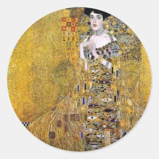 Retrato de Adela Bloch-Bauer de Gustavo Klimt Pegatina Redonda