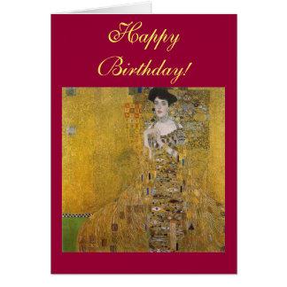 Retrato de Adela Bloch-Bauer de Gustavo Klimt Tarjeta De Felicitación