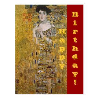 Retrato de Adela Bloch-Bauer - feliz cumpleaños Tarjetas Postales